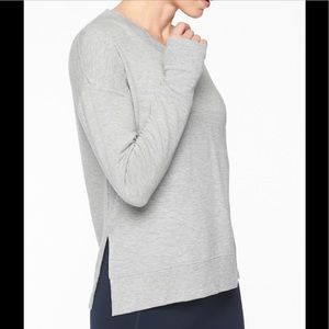 """ Athleta"" Coaster Luxe Sweatshirt; gray; size M"